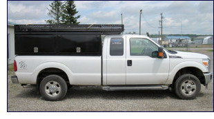 Our standard fleet of 30 Service Vehicles are fully tooled, 1-ton 4x4 trucks with service boxes and supplies.